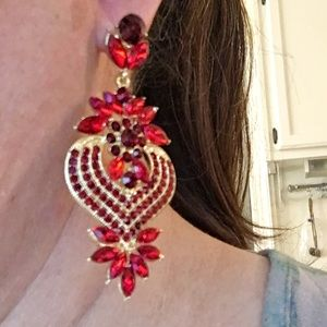 Jewelry - NEW PROM PAGEANT Chandelier Event Earrings